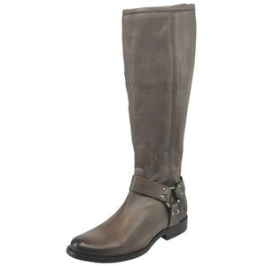 New Frye Phillip Tall Harness Boot Gray